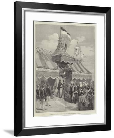 Meeting of the Emperors of Germany and Austria at Rohnstock, in Silesia-Thomas Walter Wilson-Framed Giclee Print
