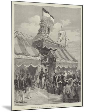 Meeting of the Emperors of Germany and Austria at Rohnstock, in Silesia-Thomas Walter Wilson-Mounted Giclee Print