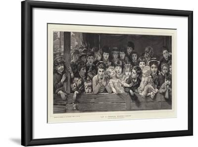 At a French Puppet-Show-Timoleon Marie Lobrichon-Framed Giclee Print