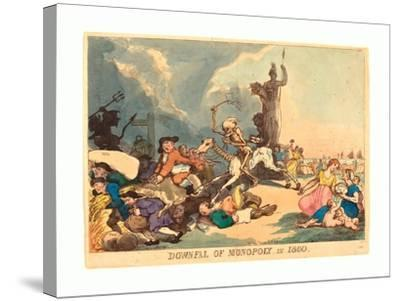 Downfall of Monopoly in 1800, Published 1800, Hand-Colored Etching, Rosenwald Collection-Thomas Rowlandson-Stretched Canvas Print