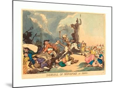 Downfall of Monopoly in 1800, Published 1800, Hand-Colored Etching, Rosenwald Collection-Thomas Rowlandson-Mounted Giclee Print