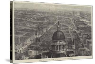 View of London from St Paul's, Looking Eastward-Thomas Sulman-Stretched Canvas Print