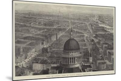 View of London from St Paul's, Looking Eastward-Thomas Sulman-Mounted Giclee Print