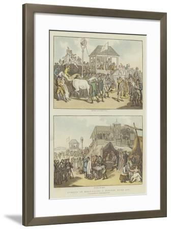 Humours of Horse-Racing a Hundred Years Ago-Thomas Rowlandson-Framed Giclee Print
