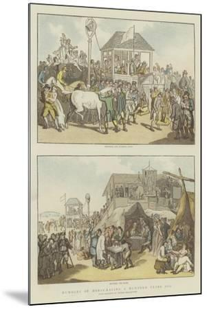 Humours of Horse-Racing a Hundred Years Ago-Thomas Rowlandson-Mounted Giclee Print