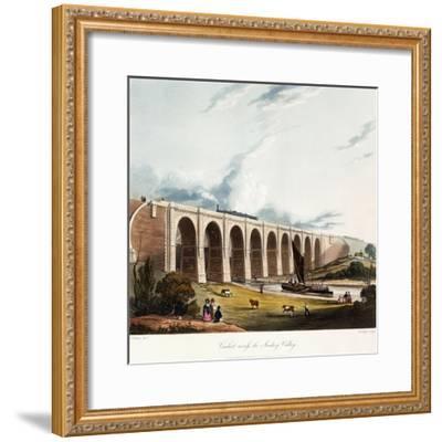 Viaduct across the Sankey Valley, 1831 (Colour Aquatints, Partly Hand-Coloured)-Thomas Talbot Bury-Framed Giclee Print