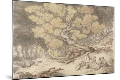 A Woodcutter's Picnic-Thomas Rowlandson-Mounted Giclee Print