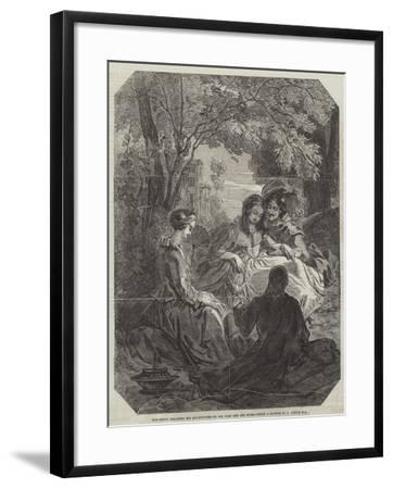 Don Scipio Relating His Adventures to Gil Blas and His Wife-Thomas Uwins-Framed Giclee Print