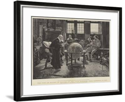 Visit of John Milton to Galileo at the Villa D'Arcetri, Near Florence, Italy-Tito Lessi-Framed Giclee Print