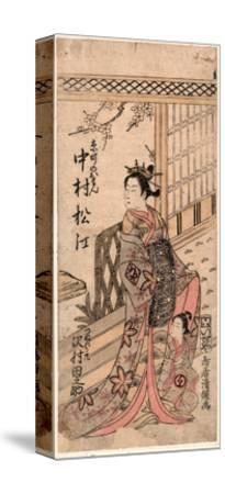 Nakamura Matsue No Kyomachi No Oman to Sawamura Tanosuke No Tsunewakamaru-Torii Kiyotsune-Stretched Canvas Print