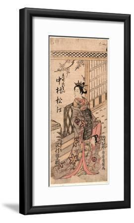 Nakamura Matsue No Kyomachi No Oman to Sawamura Tanosuke No Tsunewakamaru-Torii Kiyotsune-Framed Giclee Print