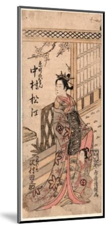 Nakamura Matsue No Kyomachi No Oman to Sawamura Tanosuke No Tsunewakamaru-Torii Kiyotsune-Mounted Giclee Print