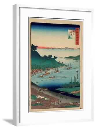 Echigo Niigata No Kei-Utagawa Hiroshige-Framed Giclee Print