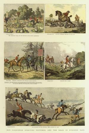 Old Fashioned Sporting Pictures, and the Road in Byegone Days-Thomas Rowlandson-Stretched Canvas Print