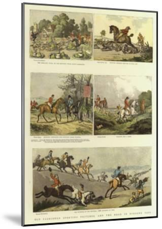 Old Fashioned Sporting Pictures, and the Road in Byegone Days-Thomas Rowlandson-Mounted Giclee Print