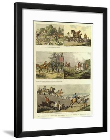Old Fashioned Sporting Pictures, and the Road in Byegone Days-Thomas Rowlandson-Framed Giclee Print