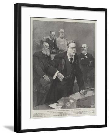 Lord Rosebery's First Speech in the House of Lords as Prime Minister, 12 March-Thomas Walter Wilson-Framed Giclee Print