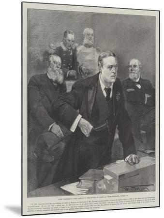 Lord Rosebery's First Speech in the House of Lords as Prime Minister, 12 March-Thomas Walter Wilson-Mounted Giclee Print