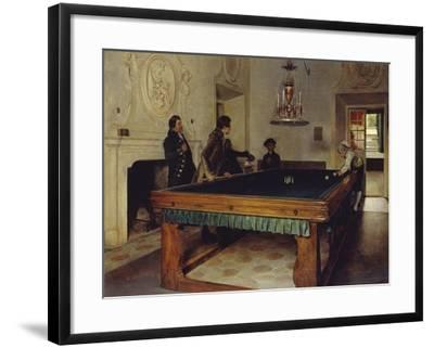 Game of Billiards, 1893-Tito Lessi-Framed Giclee Print