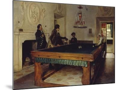 Game of Billiards, 1893-Tito Lessi-Mounted Giclee Print
