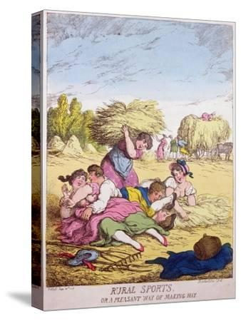 Rural Sports or a Pleasant Way of Making Hay, 1814-Thomas Rowlandson-Stretched Canvas Print