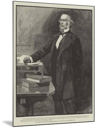Mr Gladstone Moving the Second Reading of the Religious Disabilities Bill-Thomas Walter Wilson-Mounted Giclee Print
