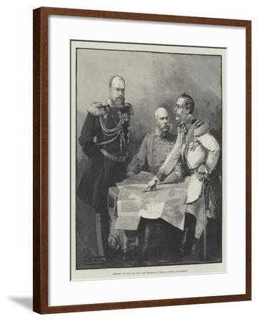 Arbiters of Peace and War, the Emperors of Russia, Austria, and Germany-Thomas Walter Wilson-Framed Giclee Print