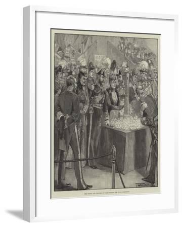 The Prince and Princess of Wales Opening the Naval Exhibition-Thomas Walter Wilson-Framed Giclee Print