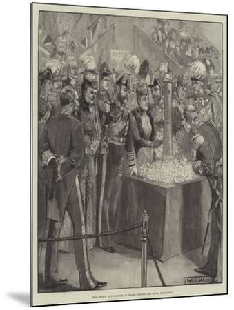 The Prince and Princess of Wales Opening the Naval Exhibition-Thomas Walter Wilson-Mounted Giclee Print