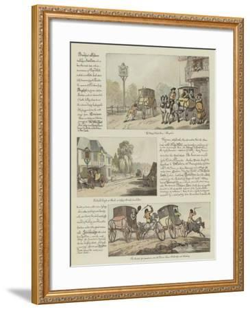 Rowlandson's Tour in a Post Chaise, 1782-Thomas Rowlandson-Framed Giclee Print