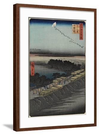Nihon Embankment, Yoshiwara, April 1857-Utagawa Hiroshige-Framed Giclee Print