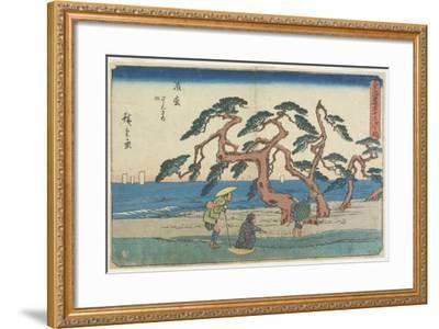 The Pine Field in Hamamatsu, 1841-1842-Utagawa Hiroshige-Framed Giclee Print