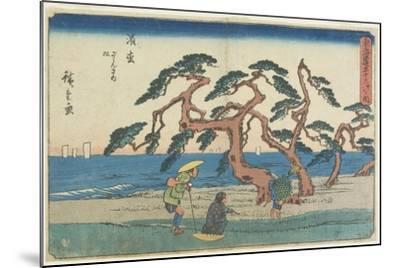 The Pine Field in Hamamatsu, 1841-1842-Utagawa Hiroshige-Mounted Giclee Print