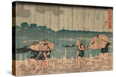 Oumayagashi No Zu-Utagawa Kuniyoshi-Stretched Canvas Print