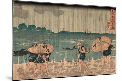 Oumayagashi No Zu-Utagawa Kuniyoshi-Mounted Giclee Print