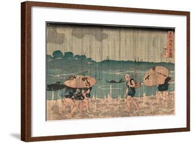 Oumayagashi No Zu-Utagawa Kuniyoshi-Framed Giclee Print