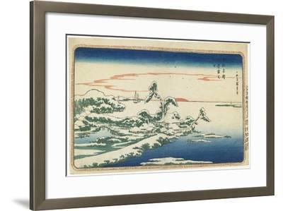 New Year's Day Sunrise at Susaki in Snow, C. 1831-Utagawa Hiroshige-Framed Giclee Print