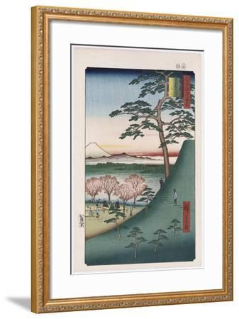 Original Fuji, Meguro', from the Series 'One Hundred Views of Famous Places in Edo'-Utagawa Hiroshige-Framed Giclee Print