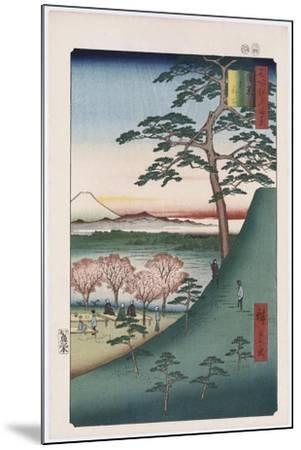 Original Fuji, Meguro', from the Series 'One Hundred Views of Famous Places in Edo'-Utagawa Hiroshige-Mounted Giclee Print