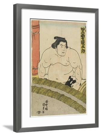 The Wrestler Kurokumo Tatsugoro of the Higo Stable, 1830-1844-Utagawa Kunisada-Framed Giclee Print