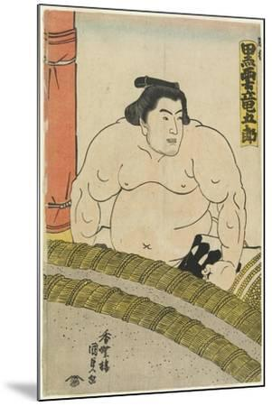 The Wrestler Kurokumo Tatsugoro of the Higo Stable, 1830-1844-Utagawa Kunisada-Mounted Giclee Print