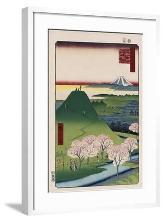 New Fuji, Meguro', from the Series 'One Hundred Views of Famous Places in Edo'-Utagawa Hiroshige-Framed Giclee Print