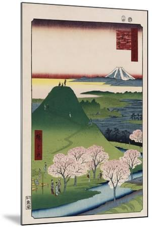 New Fuji, Meguro', from the Series 'One Hundred Views of Famous Places in Edo'-Utagawa Hiroshige-Mounted Giclee Print