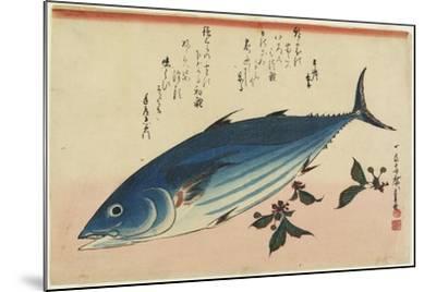 Bonito and Cherry Leaves, 1832-1833-Utagawa Hiroshige-Mounted Giclee Print