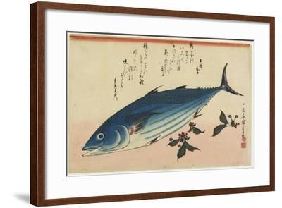 Bonito and Cherry Leaves, 1832-1833-Utagawa Hiroshige-Framed Giclee Print