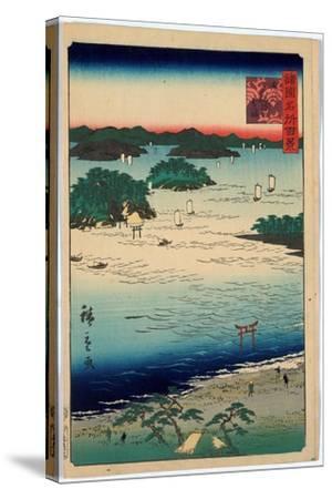 Sanuki Kubodani No Hama-Utagawa Hiroshige-Stretched Canvas Print