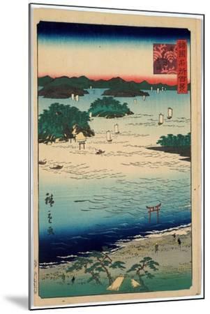 Sanuki Kubodani No Hama-Utagawa Hiroshige-Mounted Giclee Print