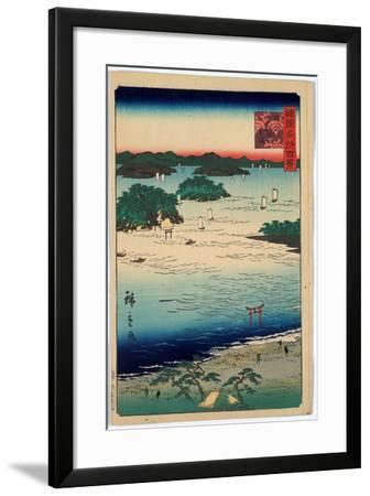 Sanuki Kubodani No Hama-Utagawa Hiroshige-Framed Giclee Print