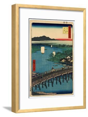 Senju No Ohashi-Utagawa Hiroshige-Framed Giclee Print