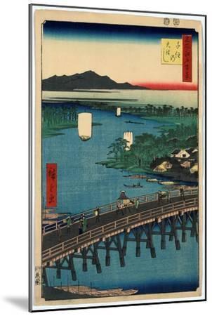 Senju No Ohashi-Utagawa Hiroshige-Mounted Giclee Print